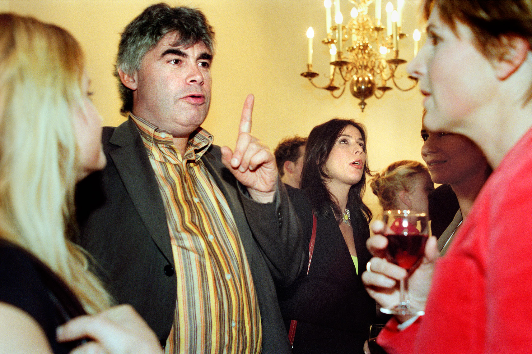 Rob Oudkerk and Heleen van Royen at the infamous afterparty of the 2003 edition of 'Het Groot Dictee der Nederlandse Taal' | Mike Harris Photography