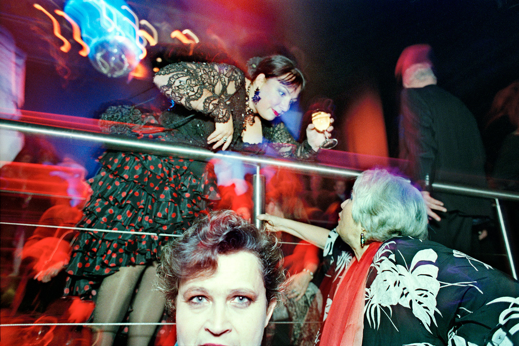 Xaviera Hollander (The Happy Hooker) and friends at a party in Amsterdam nightclub Escape | Mike Harris Photography
